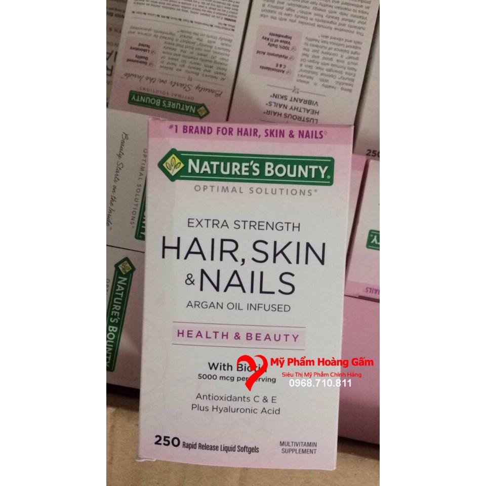 {Hàng Chính Hãng USA} Viên uống đẹp da, tóc, móng Hair Skin Nail Nature Bounty 250 viên - 3403725 , 1203668932 , 322_1203668932 , 385000 , Hang-Chinh-Hang-USA-Vien-uong-dep-da-toc-mong-Hair-Skin-Nail-Nature-Bounty-250-vien-322_1203668932 , shopee.vn , {Hàng Chính Hãng USA} Viên uống đẹp da, tóc, móng Hair Skin Nail Nature Bounty 250 viên