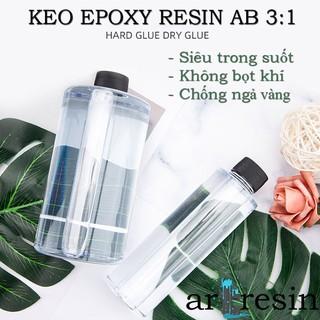 Keo Epoxy Resin AB Siêu Trong Suốt, Không Bọt Khí, Chống Ngả Vàng