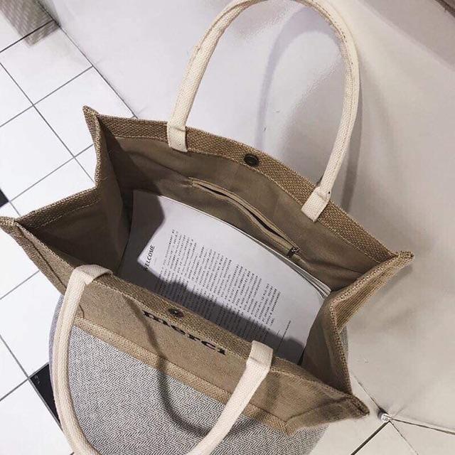 [SẴN] - Túi xách cói Merci phong cách Vintage siêu hót