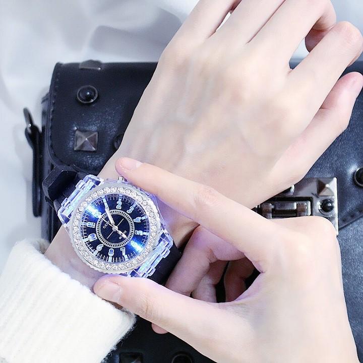 Đồng hồ điện tử Dotime nam nữ có đèn led thời trang phát sáng cực đẹp ZO44