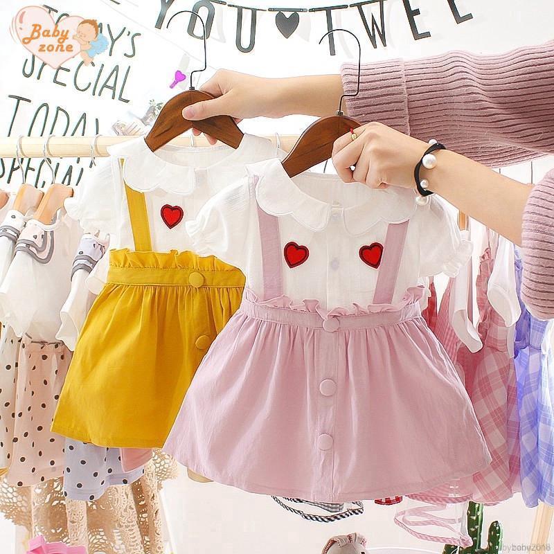 Đầm cotton mùa hè cho bé gái 0-3 tuổi