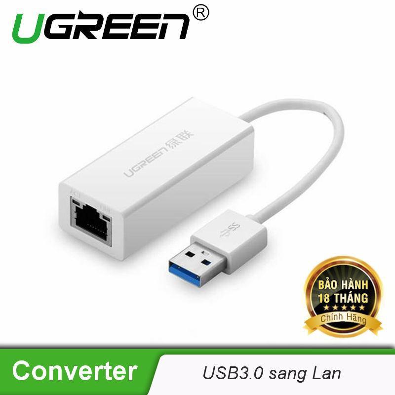 Bộ chuyển đổi USB 3.0 sang LAN 10/100/1000 Mbps UGREEN CR111