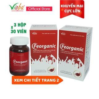 [3 hộp] Sắt hữu cơ Feorganic – Bổ sung sắt và Acid folic, giảm nguy cơ thiếu máu do thiếu sắt – Hộp 30 viên