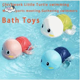【RYT】Children Bath Toys Children Cartoon Turtle Swimming Environmental Protection Material Winding Drive Toy Kids Toys