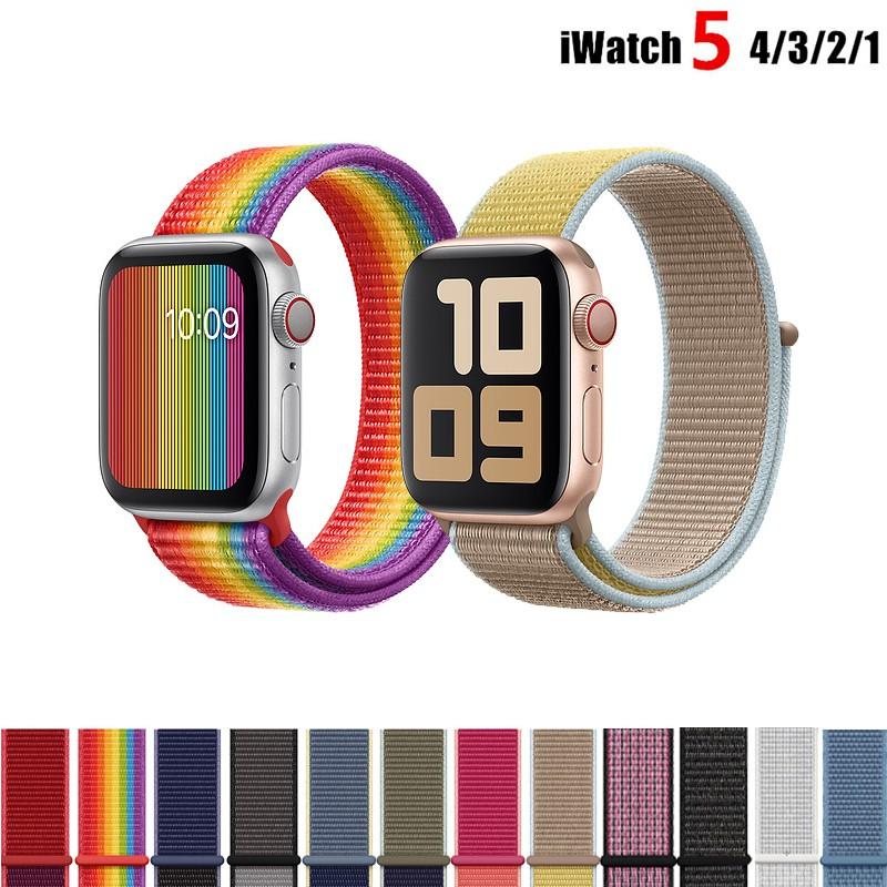 Dây đeo thay thế chất liệu vải dù cho Apple Watch 1 2 3 4 5