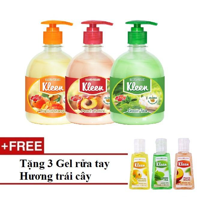 Bộ 3 Sữa rửa tay Kleen + Tặng 3 Gel rửa tay khô Kleen - Hương trái cây - 3068201 , 1168223381 , 322_1168223381 , 299000 , Bo-3-Sua-rua-tay-Kleen-Tang-3-Gel-rua-tay-kho-Kleen-Huong-trai-cay-322_1168223381 , shopee.vn , Bộ 3 Sữa rửa tay Kleen + Tặng 3 Gel rửa tay khô Kleen - Hương trái cây