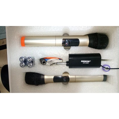 Bộ 2 Micro không dây Shure UR2000 chính hãng