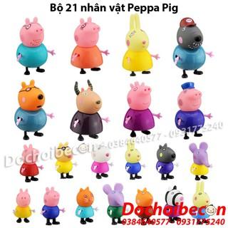 Peppa Pig – Bộ 21 Nhân Vật Heo Peppa – Bộ 13 Nhân Vật Heo Peppa