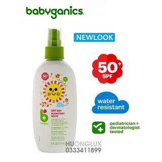[DATE 2022] Xịt chống nắng cho bé Babyganics Mineral-Based Baby Sunscreen SPF 50 thumbnail