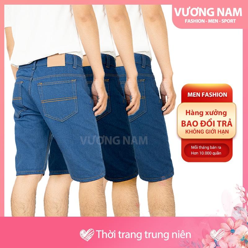Quần short jean nam ngắn cao cấp big size chất bò kiểu trơn đơn giản VN56D