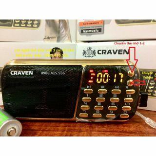 [Pin Siêu Lâu]Loa Nghe Nhạc Caraven 3 pin CR853 Tặng Kèm 1 Dây Quấn Đt