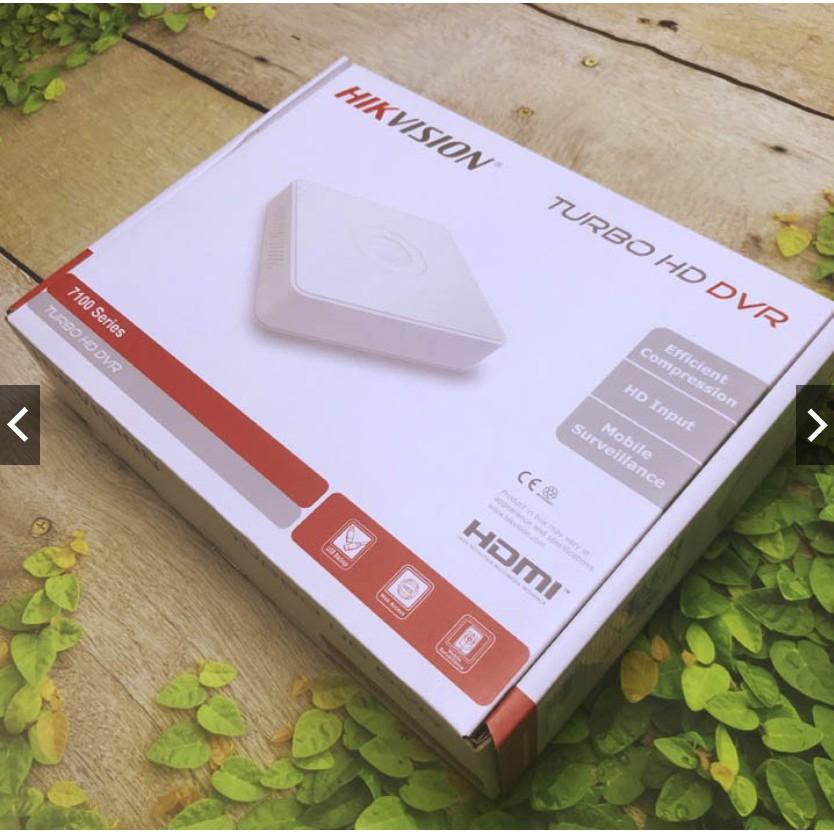 Đầu ghi hình camera 4 cổng Hikvision ds-7104hghi-f1 vỏ nhựa hỗ trợ chuẩn nén H264+