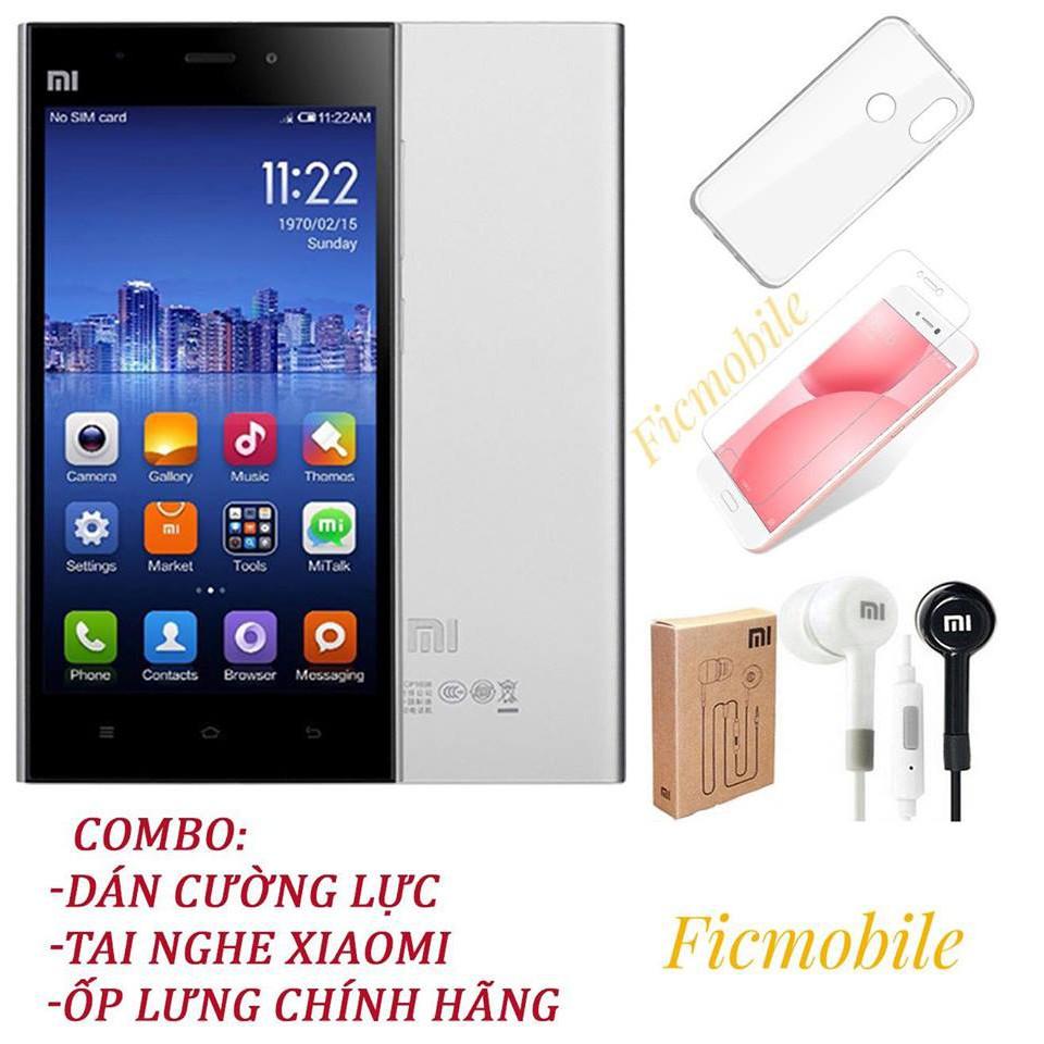 Combo Điện thoại Xiaomi Mi 3 mới 100% chính hãng