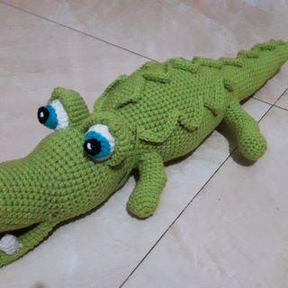 Cá sấu đan móc bằng len 100% handmade