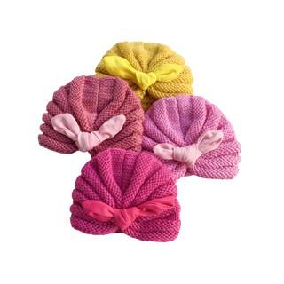Mũ Len Dệt Kim Thắt Nơ Turban Bé Gái (3-6 Tháng) BabyBean thumbnail