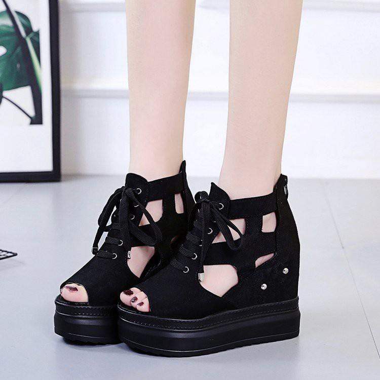 Giày Sandal đế xuồng cá tính S113