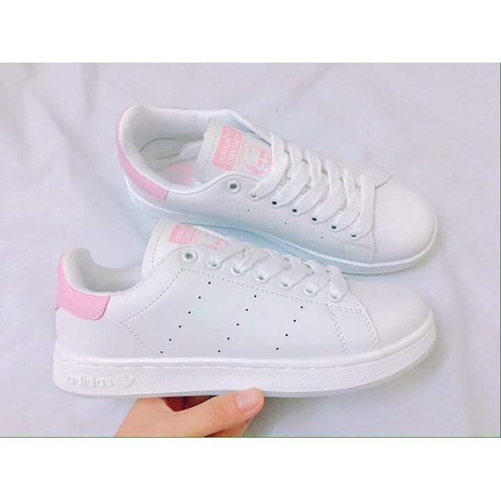 [GIẢM GIÁ GỐC] Giày thể thao nữ Adidas StanSmith trắng hồng