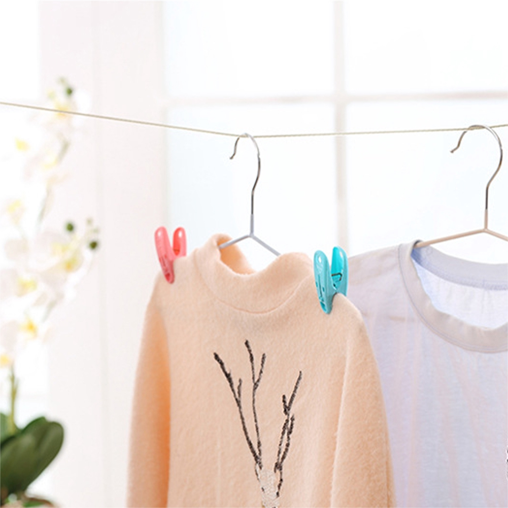 Spring Loaded Thick Household PP Laundry Ultra Strong Bright Colors Large Clothes Peg