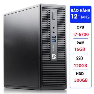 Case máy tính đồng bộ HP ProDesk 400G3 SFF, cpu core i7-6700, ram 16GB, SSD 120GB,HDD 500GB Tặng USB thu Wifi thumbnail