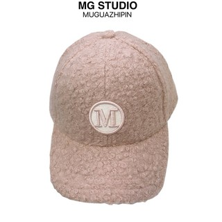Mũ lưỡi trai MG STUDIO làm từ len lông cừu họa tiết thêu đáng yêu dành cho bé