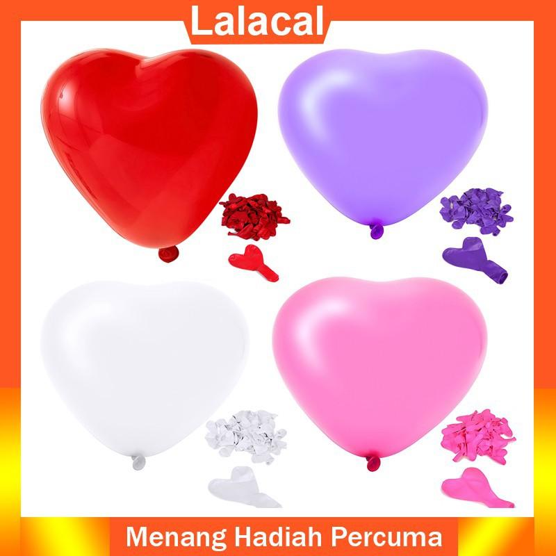 """Set 100 bóng bay hình trái tim nhiều màu sắc dùng để trang trí tiệc cưới sinh nhật tiện dụng cỡ 10"""""""