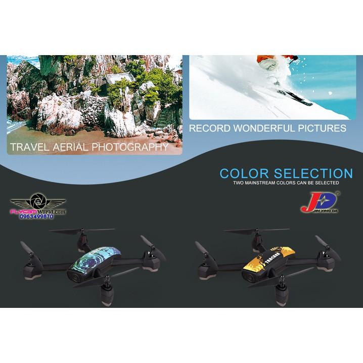 Flycam JXD 518 Tracker GPS 720P HD camera màu vàng