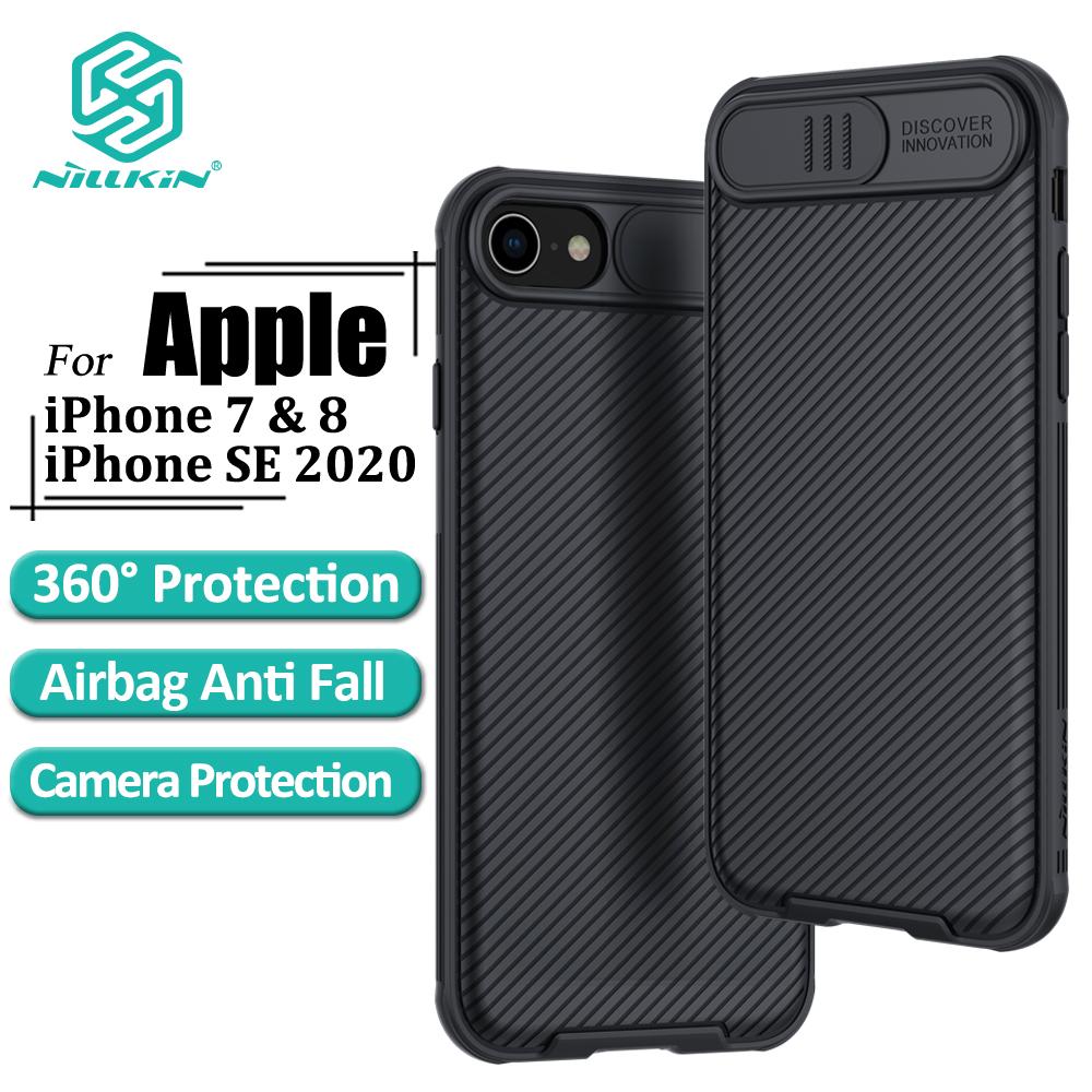 Ốp Điện Thoại Nillkin CamShield Pro Cho iPhone SE 2020 / 8 / 7 Bằng PC Cứng Thiết Kế Nắp Trượt Camera Bảo Vệ Sự Riêng Tư
