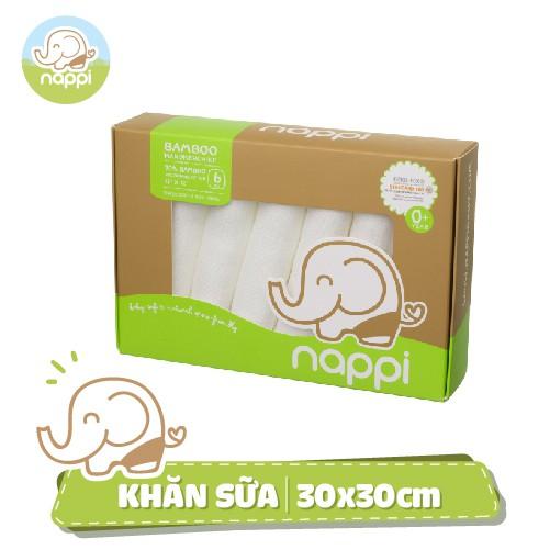 [NHẬP MKBNAP99K] Khăn sữa sợi tre Nappi (6 chiếc