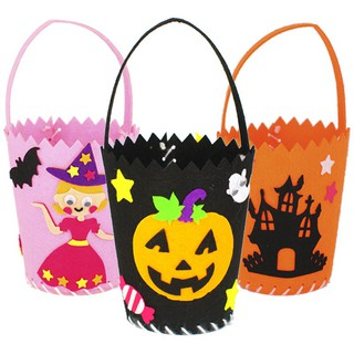 Halloween candy bag DIY handmade gift bag children's educational toys