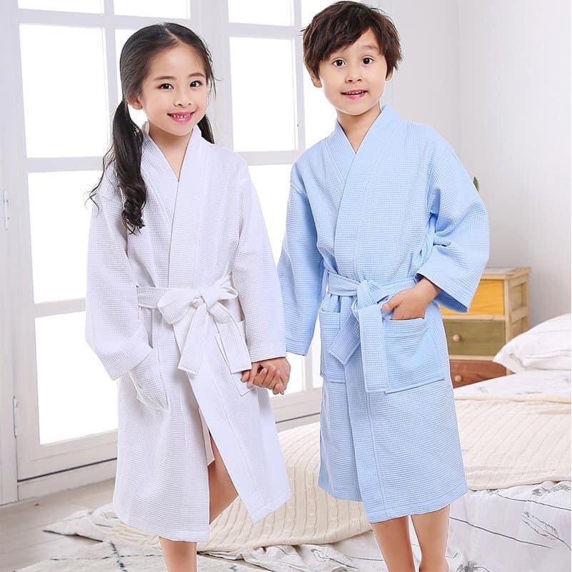 Áo choàng tắm khách sạn 5 sao cho người lớn và trẻ em chất mặc cực thoáng mát