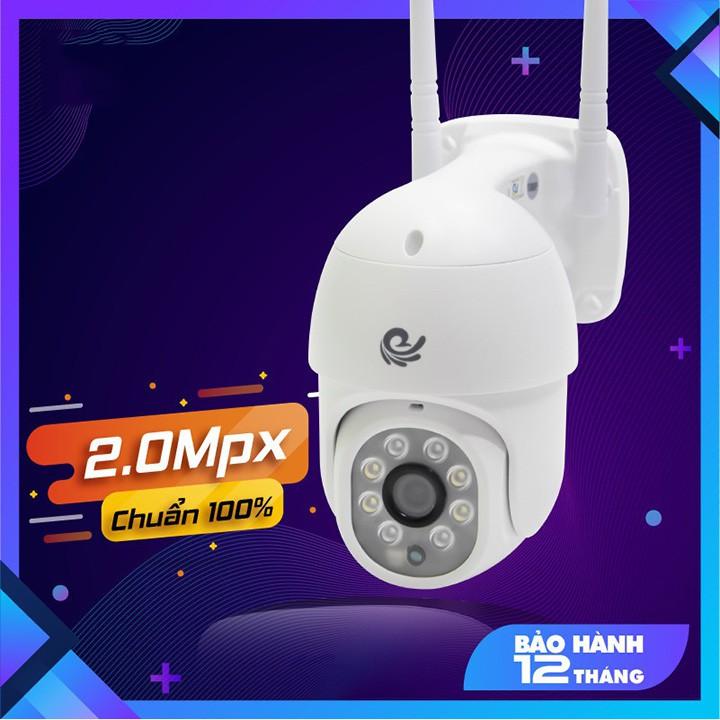 Camera WIFI Ngoài trời FULL HD 1080P PTZ - có màu ban đêm, XOAY 360 độ - Hàng chính hãng