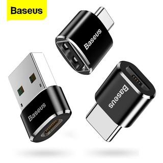 [Mã ELFLASH5 giảm 20K đơn 50K] JACK CHUYỂN TYPE C SANG USB VÀ MICRO BASEUS OTG 2.4A CHÍNH HÃNG [NEW 100%]