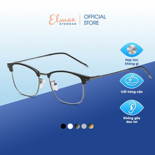 Gọng kính vuông kim loại nửa viền cao cấp Elmee E2317 - dành cho cả nam và nữ thumbnail