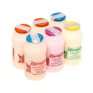 Lốc 6 Chai sữa chua uống men sống Betagen hương Hỗn hợp 85ml/hộp