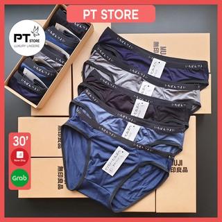 4 quần sịp chéo thun trơn co giãn 4 chiều MLQ09, hàng xuất Nhật, quần lót nam tam giác phù hợp nhất
