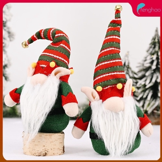 ready/cod Christmas long ears with bells forest old man doll creative Rudolph doll fenghao