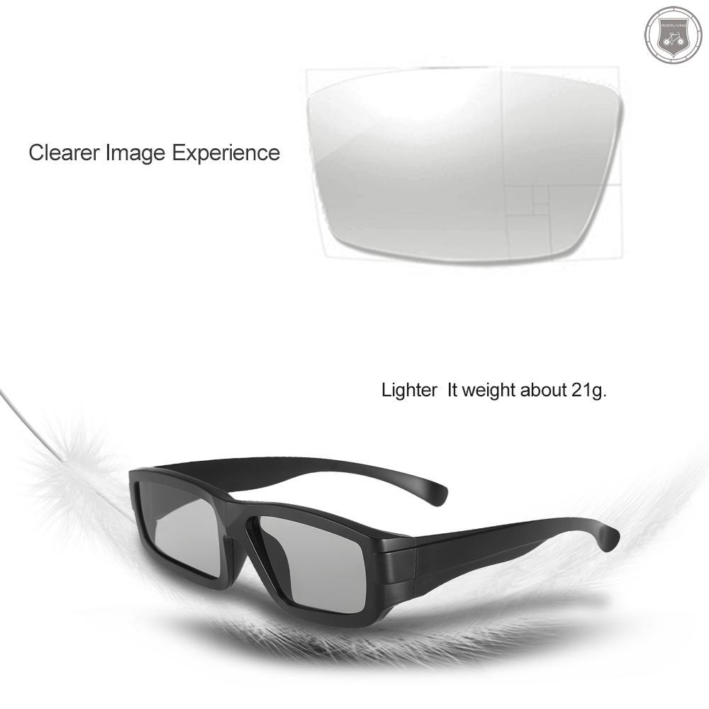 R&L Passive 3D Glasses Circular Polarized Lenses for Polarized TV Real D 3D Cinemas for Panasonic