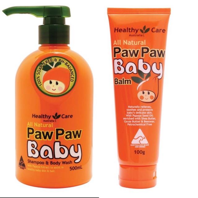 Sữa tắm gội (500ml) ➕ Kem đa năng (100g) Paw Paw Baby Healthy Care Úc dành cho bé - 14709944 , 2174410912 , 322_2174410912 , 210000 , Sua-tam-goi-500ml-Kem-da-nang-100g-Paw-Paw-Baby-Healthy-Care-Uc-danh-cho-be-322_2174410912 , shopee.vn , Sữa tắm gội (500ml) ➕ Kem đa năng (100g) Paw Paw Baby Healthy Care Úc dành cho bé