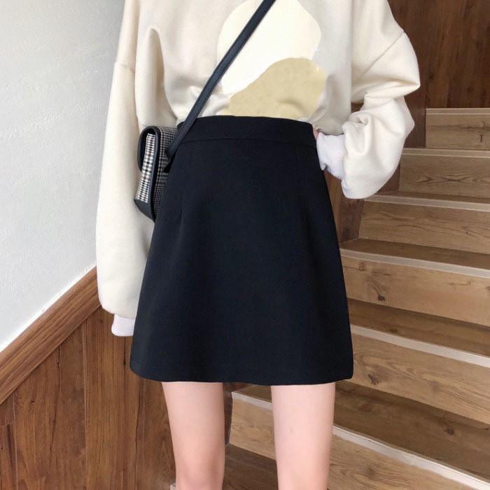 Chân Váy Chữ A Ngắn Lưng Cao Kẻ Caro Chống Lộ MOMOTO, Chân Váy Nữ 2021
