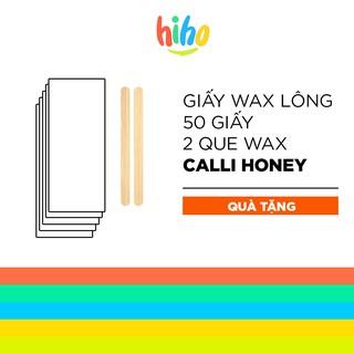 Giấy wax lông tập 50 giấy + 2 que wax tẩy triệt lông chuyên dụng – GWL