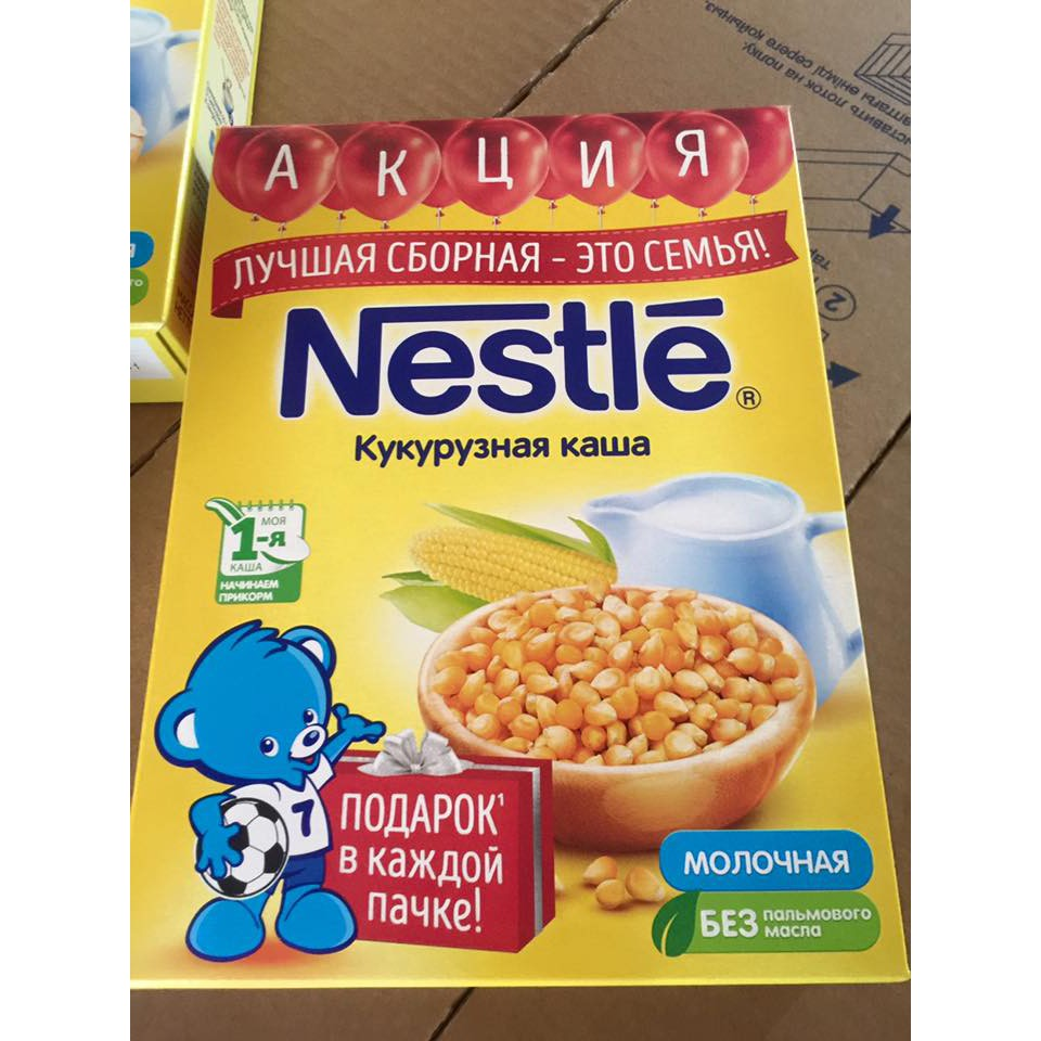 Bột ăn dặm Nestle Nga vị Ngô Sữa