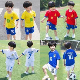 Bộ thể thao trẻ em màu trắng Real cho bé( 9-35kg)