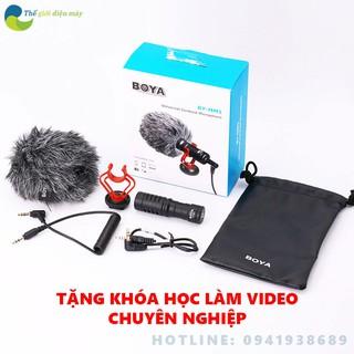 micro thu âm chuyên nghiệp Boya-MM1 cao cấp đa năng cho máy ảnh điện thoại, máy ảnh dslr, camera hành động live stream thumbnail