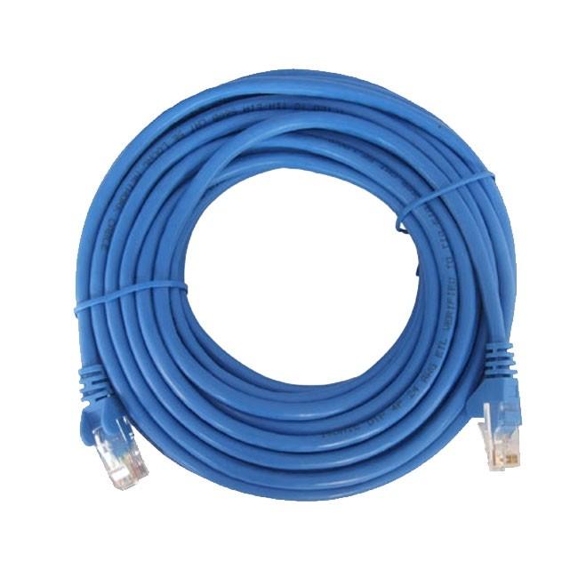 Dây cáp mạng CAT6E UTP bấm sẵn 2 đầu 110 Mét (Trắng, xanh - Mới 100%)