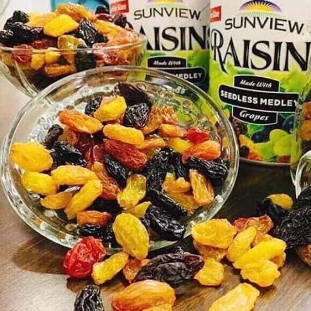 Nho Mỹ khô không hạt Sunview Raisin 227g cực ngon dùng trang trí bánh