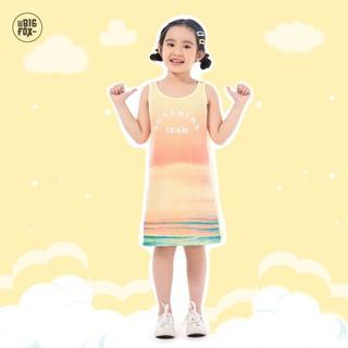Đầm Cho Bé Gái Miss Meow Tới Size Đại . Váy Cotton Thun Sát Nách BG in Sunshine Team