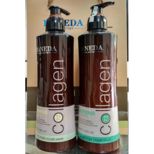 Cặp gội xả collagen phục hồi tóc hư tổn