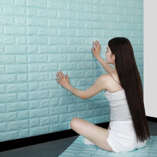 Xốp Dán Tường 3D Khổ 70x77CM Chống Ẩm sang trọng mẫu mới 2021