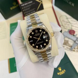 [Fullboxx 1:1] Đồng hồ nam Rolex - viền đá dây kim loại chống nước