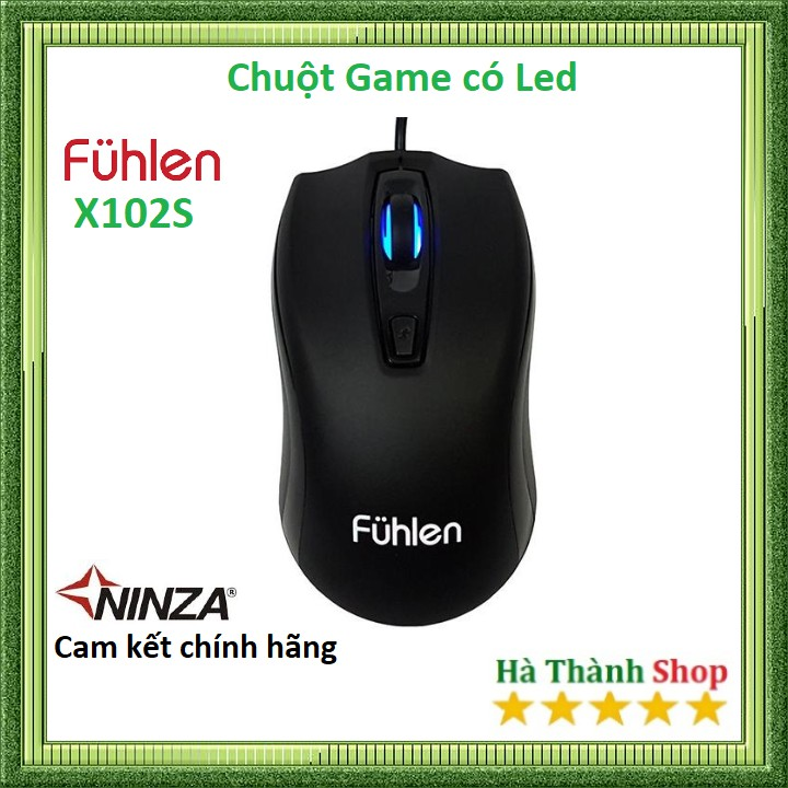 Chuột Game Fuhlen X102S Led 7 Mầu- chính hãng Ninza